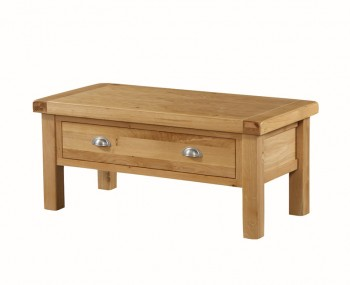 Newbridge Solid Oak Small 1 Drawer Coffee Table