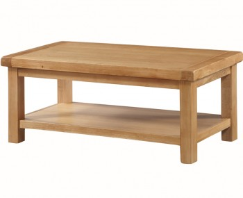 Newbridge Solid Oak Small 1 Shelf Coffee Table
