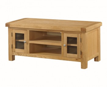 Newbridge Solid Oak 2 Doors Large Straight TV Unit