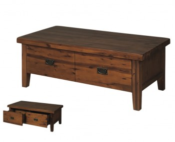 Rowland Acacia Coffee Table With Drawers