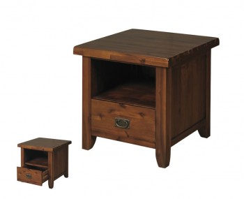 Rowland Acacia Storage Lamp Table