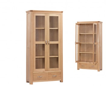 Treviso Solid Oak Curved Display Cabinet