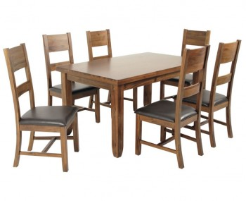 Rowland Acacia Medium Extending Dining Set