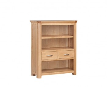 Treviso Solid Oak Curved Low Bookcase