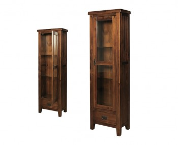 Rowland Acacia & Glass 1 Door Display Unit