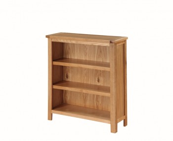 Hartford City Oak Solid Wood Low Bookcase