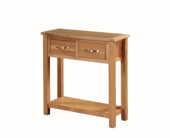 Hartford City Oak Solid Wood Large Console Table
