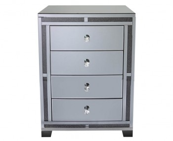 Hammond Smoked Mirror 4 Drawer Chest