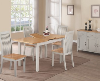 Hartford Painted Solid Oak 120cm Extending Dining Set