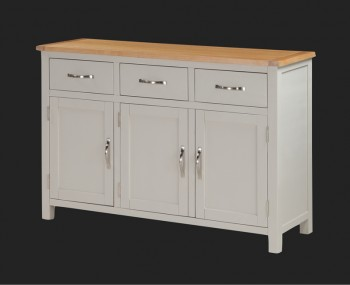 Hartford Painted Solid Oak 3 Door Sideboard