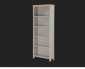Hartford Painted Solid Oak Tall Wide Bookcase