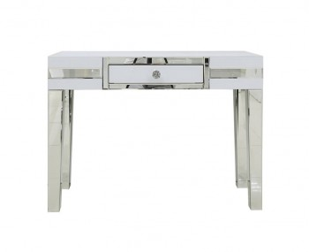 Hartford White Mirrored 1 Drawer Console Table