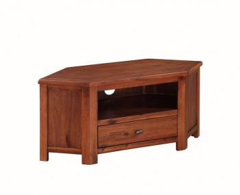 Hartford Solid Acacia Corner TV Unit