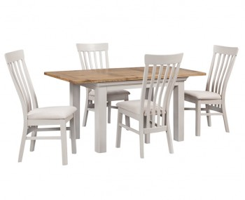 Lola Large Painted Oak Extending Dining Set