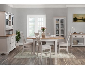 Lola Small Painted Oak Extending Dining Set