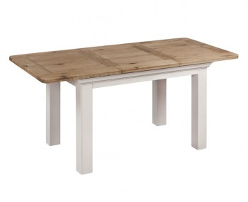 Lola Small Painted Oak Extending Dining Table