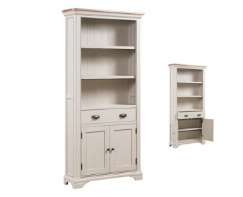 Lola Large Painted Oak Bookcase