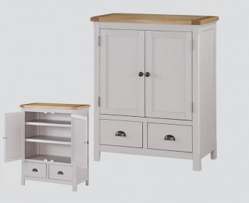 Glenbrook Grey Wooden 2 Door Chest