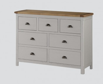 Glenbrook Grey Wooden 3+4 Drawer Chest