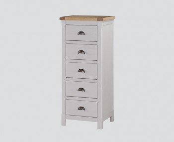 Glenbrook Grey Wooden 5 Drawer Chest