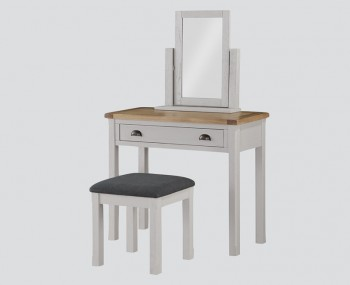 Glenbrook Grey Wooden Dressing Table and Stool