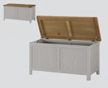 Glenbrook Grey Wooden Blanket Box
