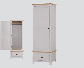 Glenbrook Grey Wooden 1 Door Wardrobe