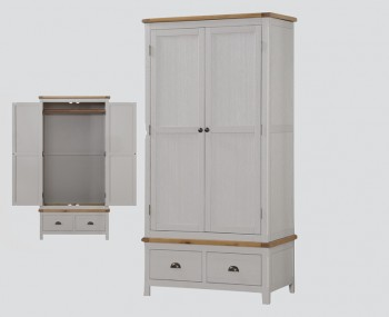 Glenbrook Grey Wooden 2 Door Wardrobe
