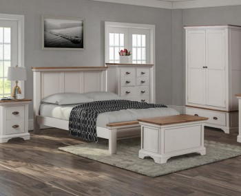 Lola Painted Oak Bed Frame