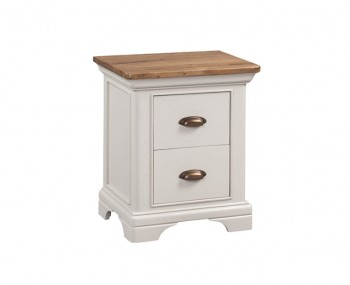 Lola 2 Drawer Painted Oak Bedside Chest