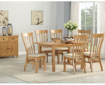 Kako Oak Extending Dining Set
