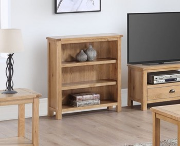 Kako Low Oak Bookcase