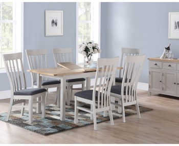 Kako Painted Oak Extending Dining Set
