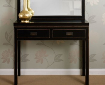 Orient Black Console Table