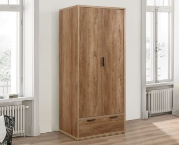 Stockwell 2 Door Oak Effect Wardrobe