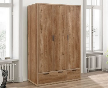 Stockwell 3 Door Oak Effect Wardrobe