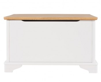 Wellington White Painted & Oak Blanket Box