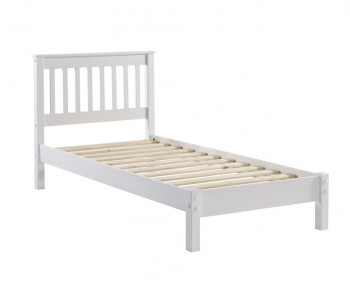 Wellington White Painted Slatted Bed Frame
