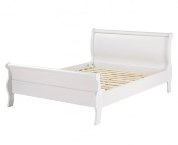 Wellington White Painted Sleigh Bed Frame