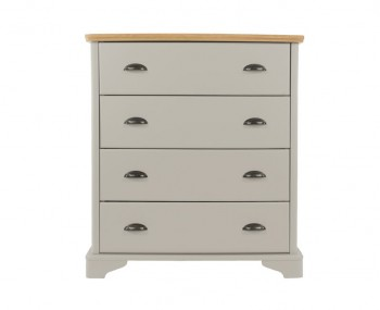 Salvador Grey Painted & Oak 4 Drawer Chest