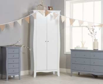 Parise White 2 Door Wardrobe