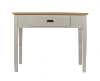 Salvador Single Grey Painted & Oak Dressing Table