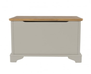 Salvador Grey Painted & Oak Blanket Box