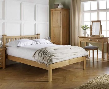 Akasey Solid Oak Chunky Bed