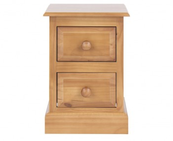 Hudson Pine Small 2 Drawer Bedside Chest