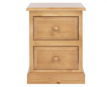 Hudson Pine 2 Drawer Bedside Chest