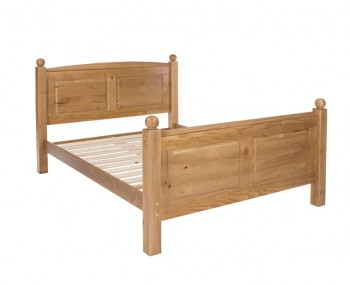 Hudson Pine High Foot End Bed Frame