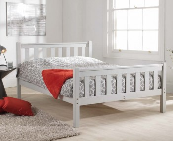 Shaker Grey High Foot End Bed Frame