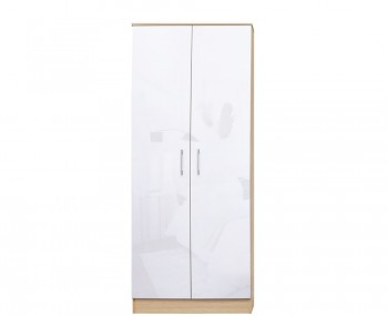 Casey White High Gloss 2 Door Wardrobe *Special Offer*