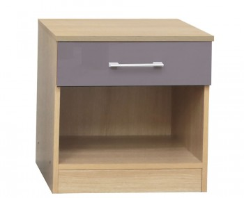 Casey Taupe Grey High Gloss Bedside Table *Special Offer*